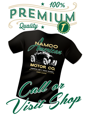 About Namco American car hot rod T Shirt from the shop
